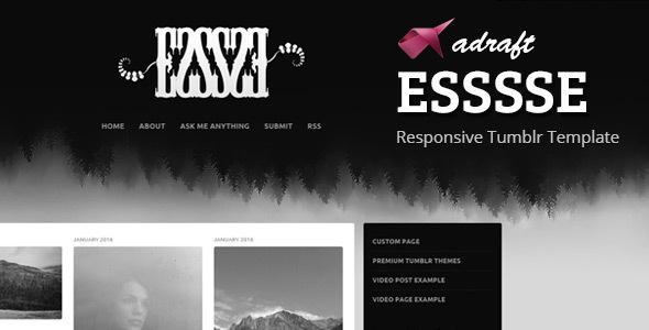 ESSSSE - Responsive Tumblr Theme