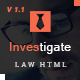 Investigate - Lawyer and Attorney HTML Template