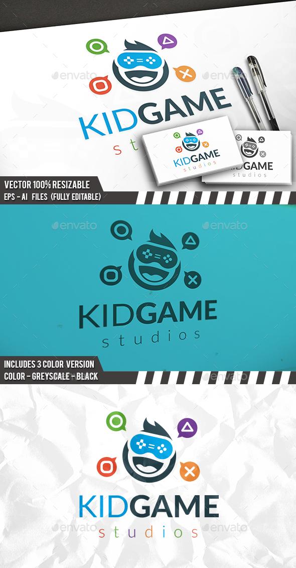 Kid Gamer Logo Template