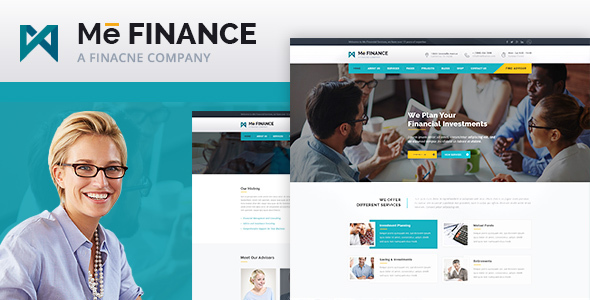 Me Finance – Business and Finance HTML Template (Business) Download