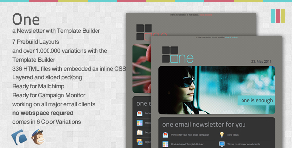 One Email Newsletter with Template Builder