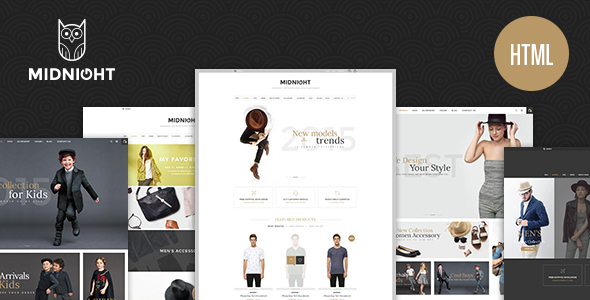 MidNight – eCommerce Fashion HTML5 (Fashion) Download
