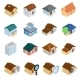 Houses Isometric 3d Icons Set