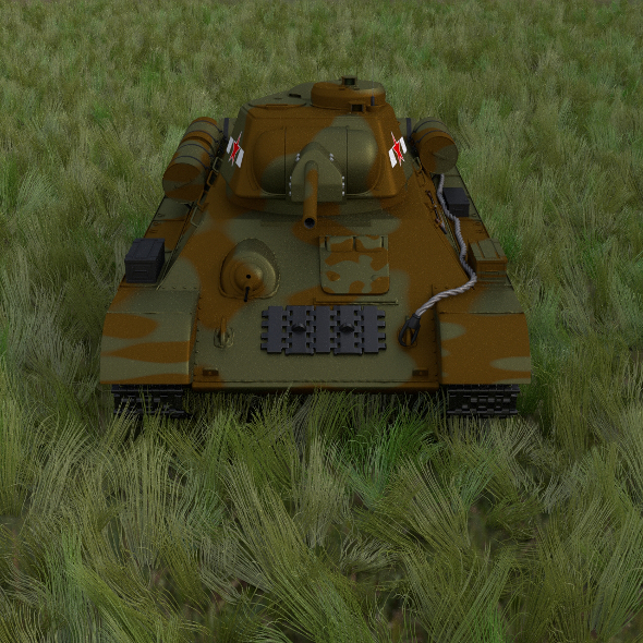 T34/76 Tank Camo HDRI - 3DOcean Item for Sale