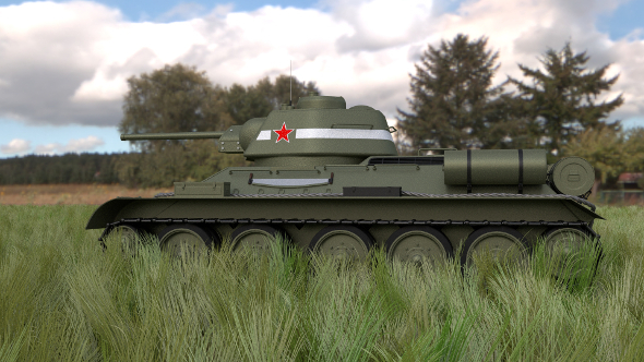 T34/76 Tank HDRI - 3DOcean Item for Sale