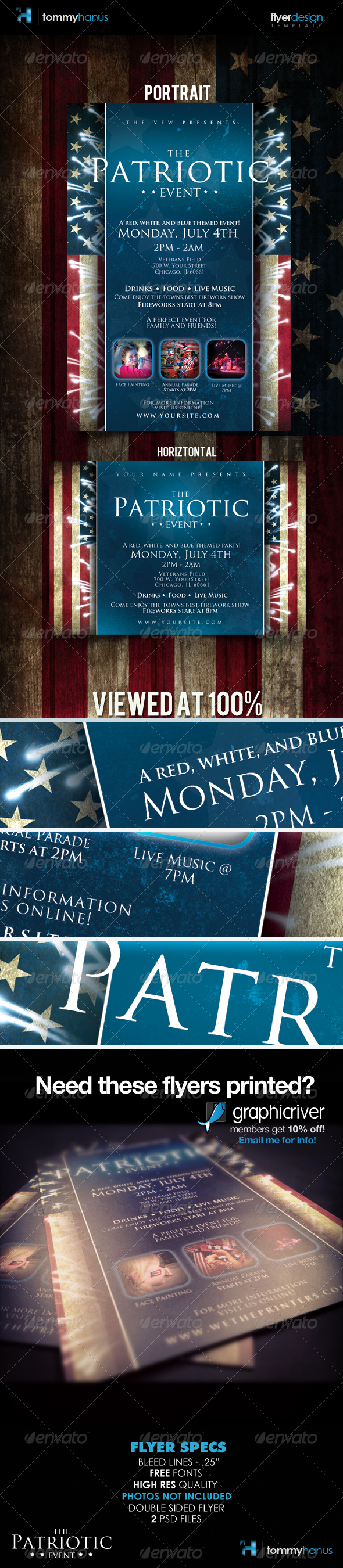 GraphicRiver Patriotic 4th Of July Flyer Template 264497