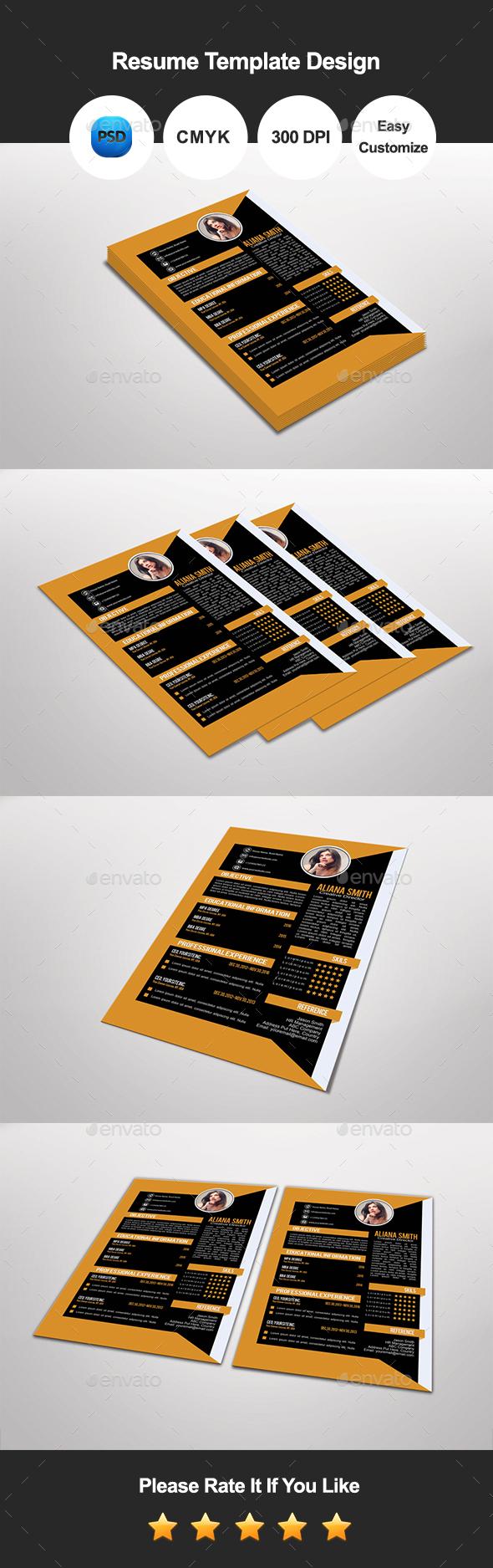 Teanli Resume Template Design