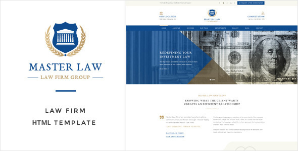 Law Master – Attorney & Lawyer HTML Template (Corporate) Download