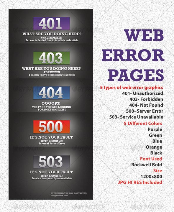 GraphicRiver Box Web Error Graphics 57331