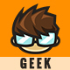 Geek Cartoon Logo - Tommy