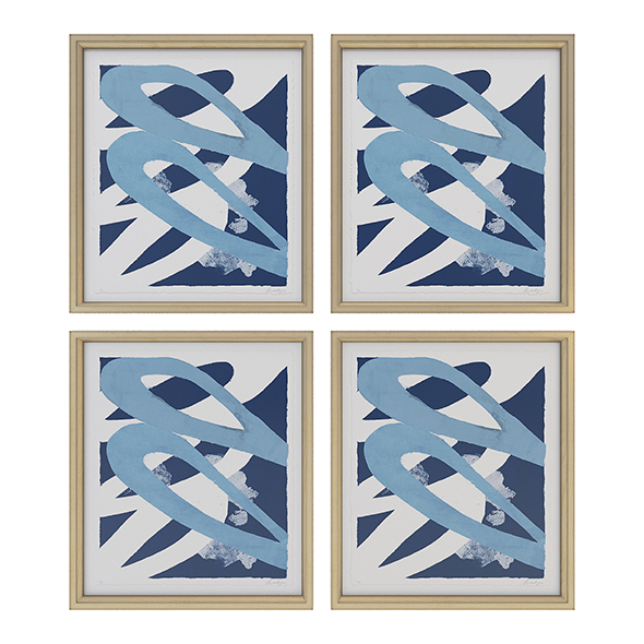 Charlotte Morgan Blue Abstracts - 3DOcean Item for Sale