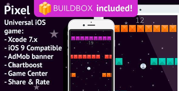 BuildBox Game. Pixel: iOS, Easy Reskin, AdMob & Chartboost - CodeCanyon Item for Sale