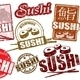 Sushi stamps - GraphicRiver Item for Sale