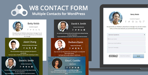 Download W8 Contact Form - WordPress Contact Form Plugin nulled download
