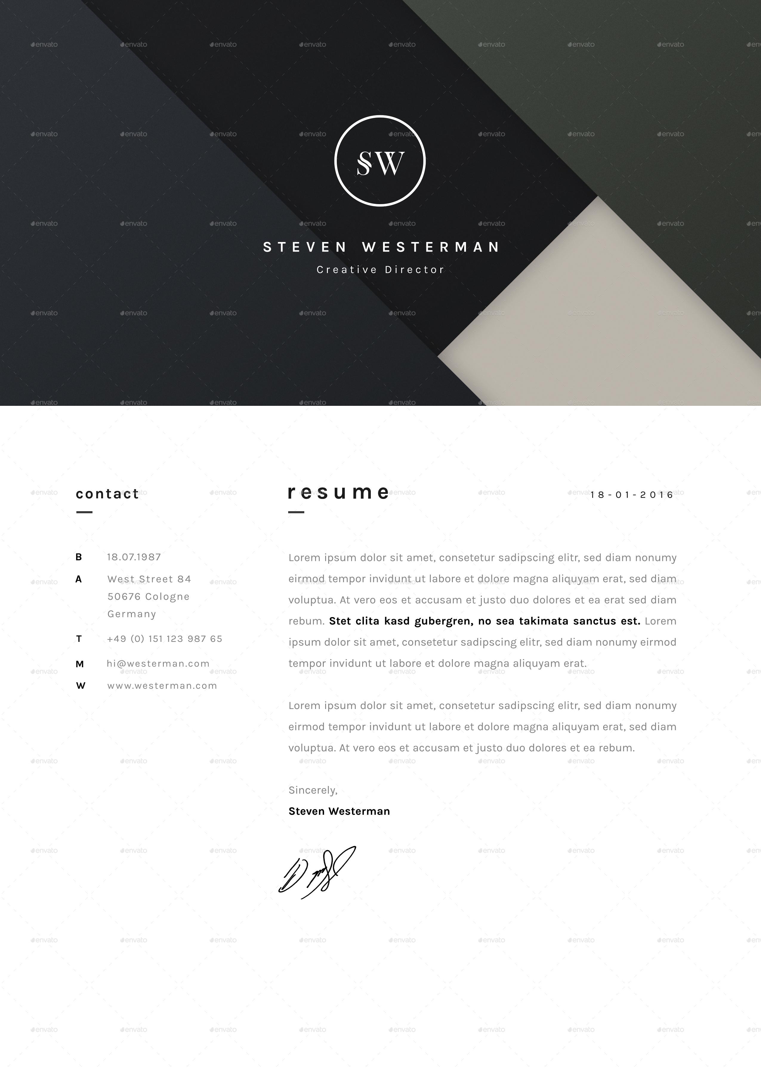 a4 elegant resume w logo cover portfolio resume by detales portfolio jpg resume jpg