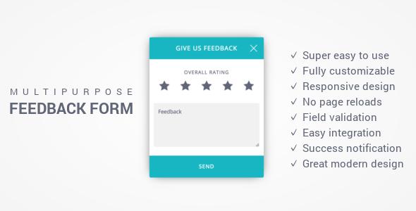 Feedback Form – Responsive Multi-Purpose Ajax Feedback Form (Forms) Download