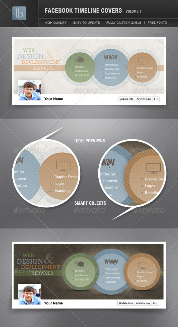 GraphicRiver Facebook Timeline Covers Volume 3 1313485