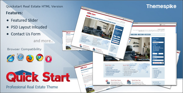 Quick Start Real Estate HTML