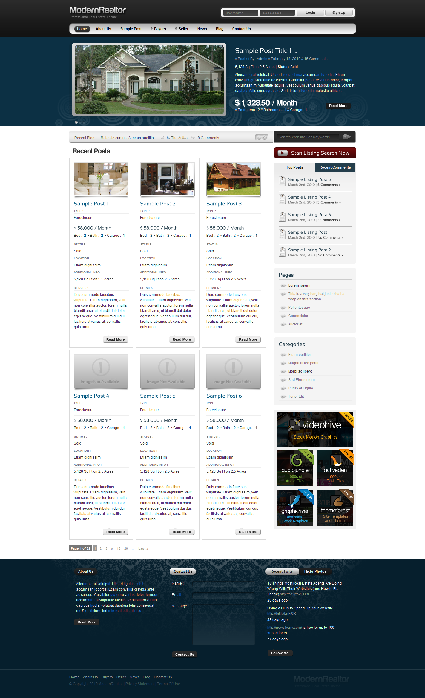 Modern Realtor HTML
