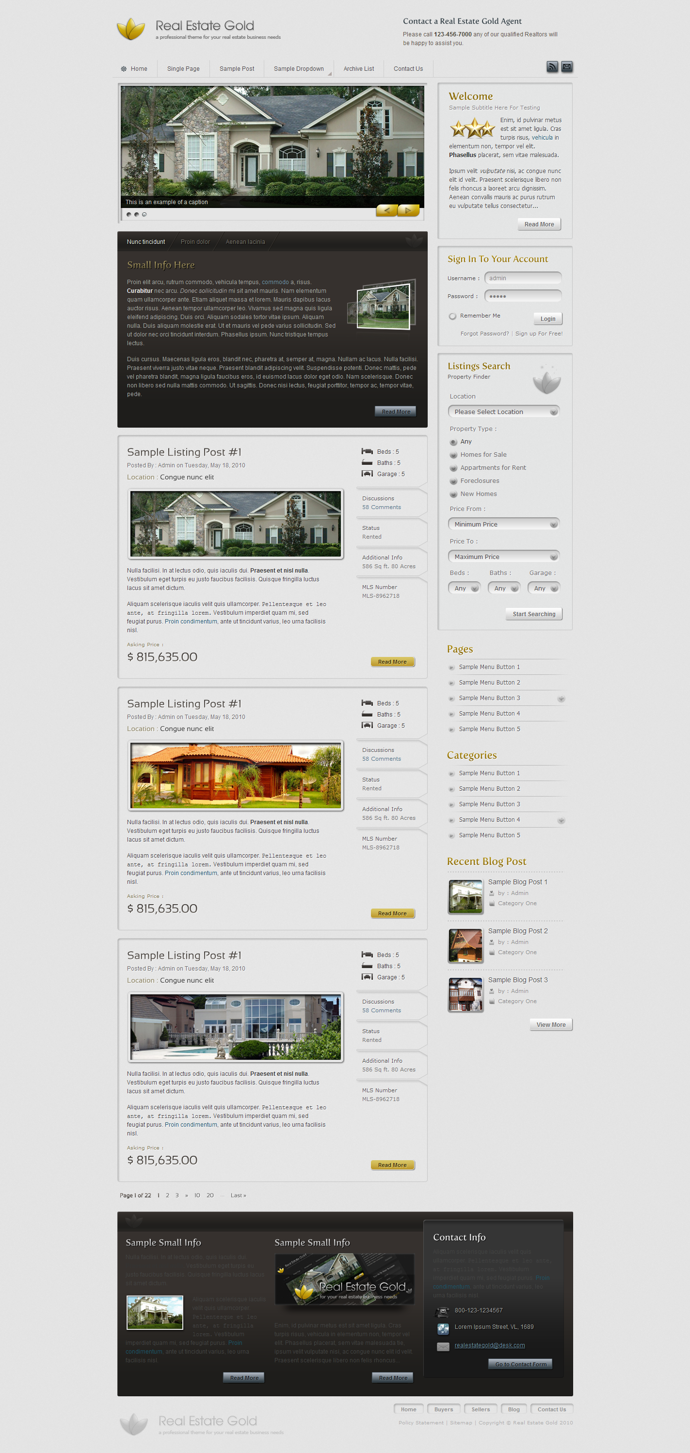 Real Estate Gold HTML