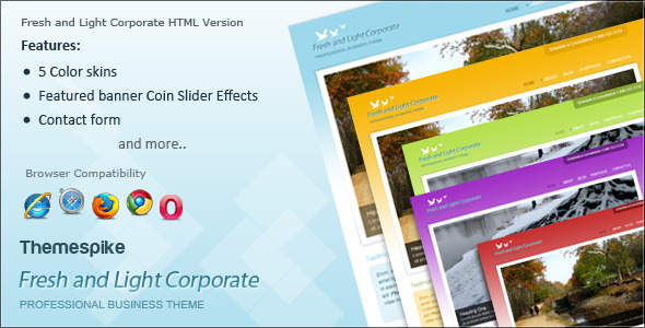 Fresh and Light Corporate HTML
