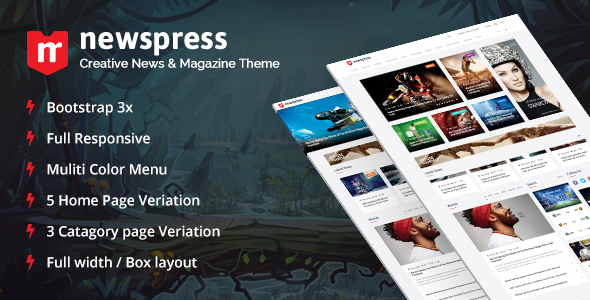 NewsPress – Bootstrap News/Magazine Template (Entertainment) Download