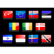 Glossy national flags - GraphicRiver Item for Sale
