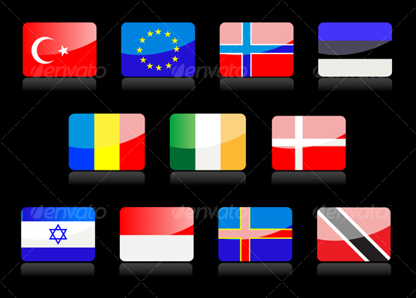 GraphicRiver Glossy national flags 57382