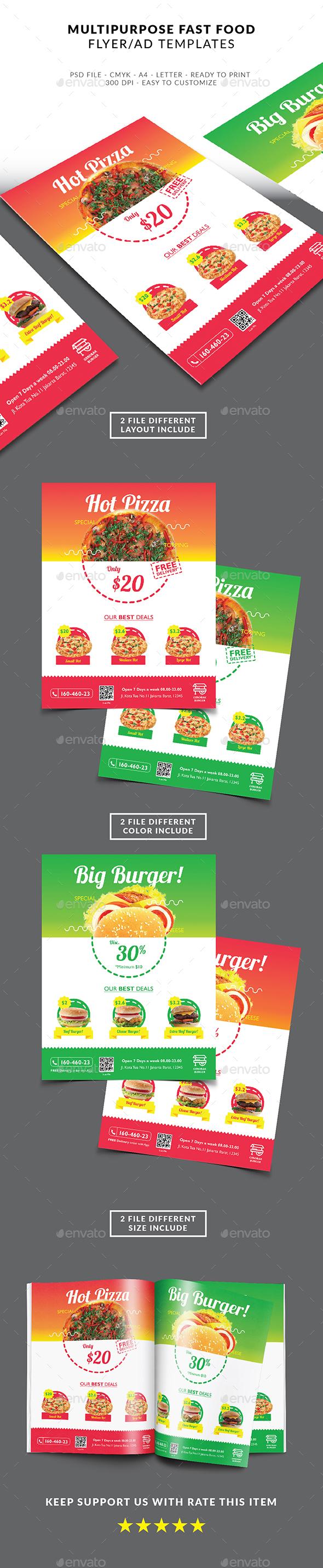 Multipurpose Fast Food Flyer