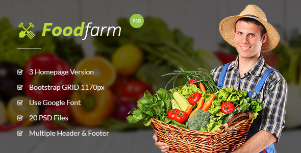 FoodFarm – Multipurpose PSD Template (Food) images