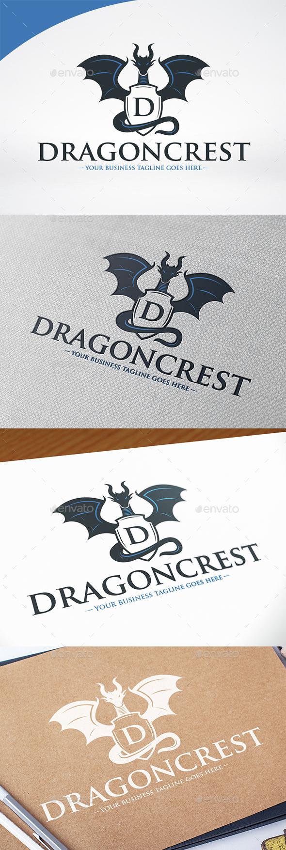 Dragon Crest Logo Template