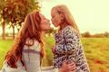 kissing mum