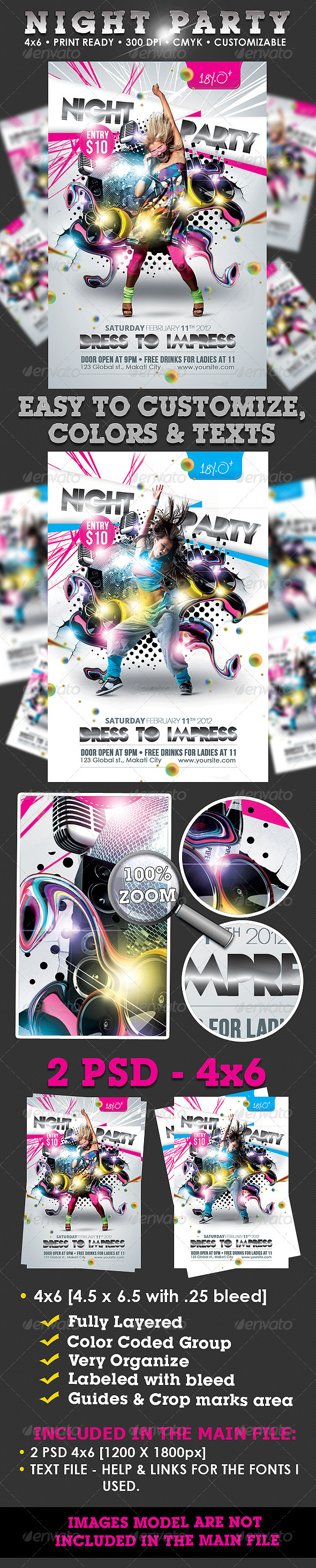 GraphicRiver Night Party Flyer Template 1450563
