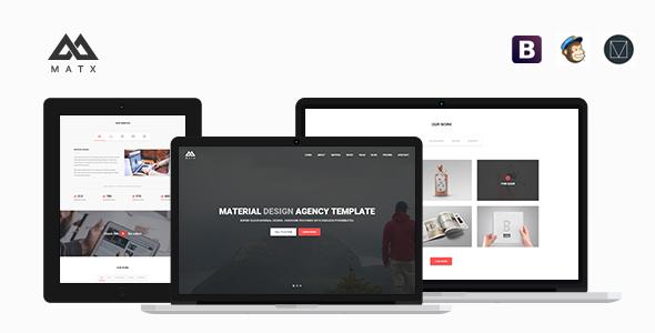 MATX – Material Design Agency Template (Portfolio) Download