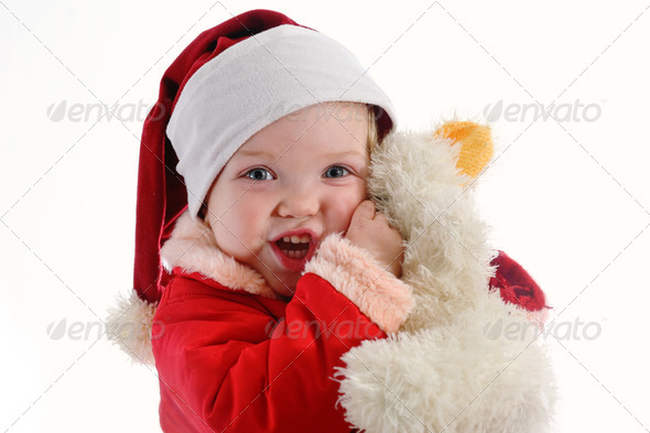 Baby with toy - Stock Photo - Images