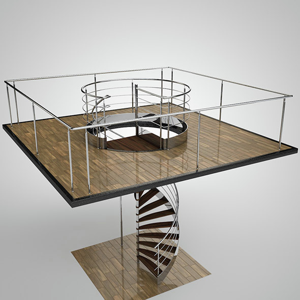 Spiral staircase - 3DOcean Item for Sale