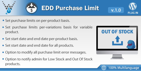 Download Easy Digital Downloads - Purchase Limit nulled download