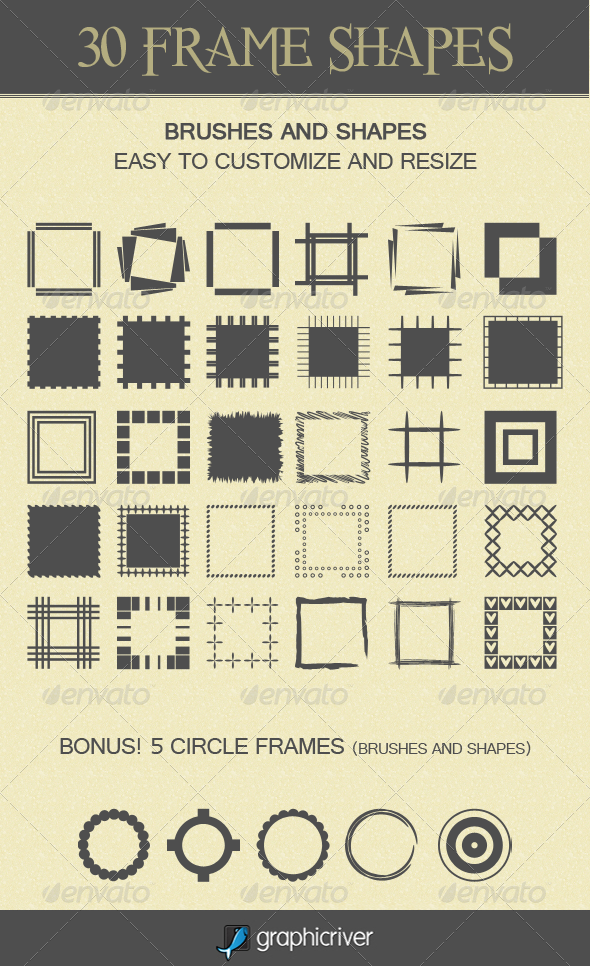 30 Frame Shapes - Objects Shapes