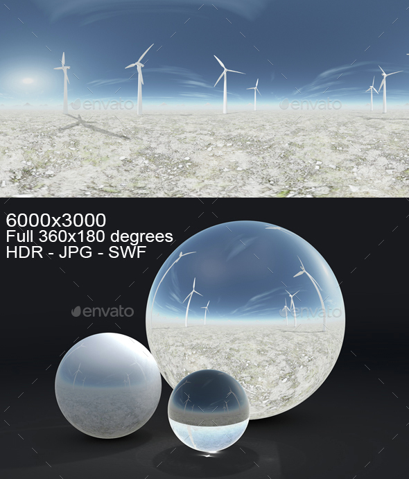 Windmills HDRI - 3DOcean Item for Sale
