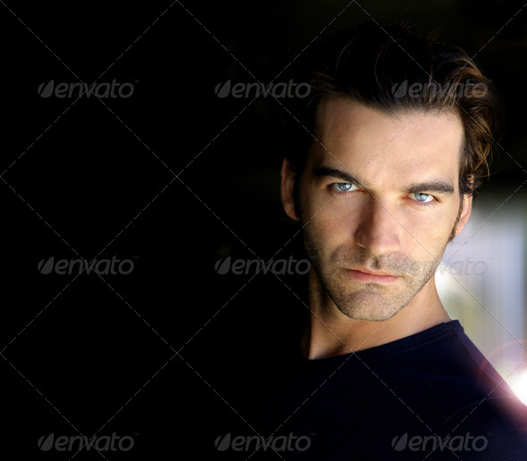 Portrait in black - Stock Photo - Images