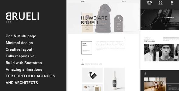 Brueli – Minimal Portfolio / Agency / Architect Template  (Creative) Download