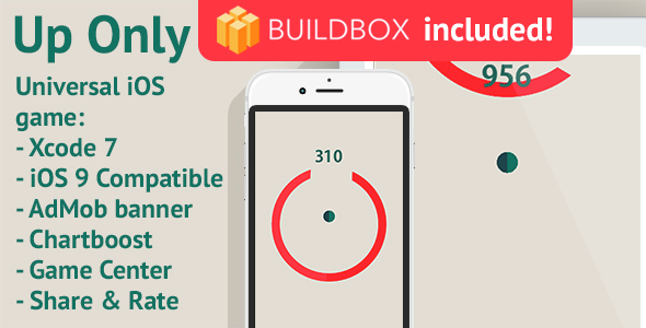 BuildBox Game. Up Only: iOS, 3 PNG reskin, AdMob & Chartboost