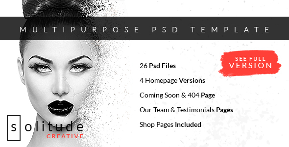 Solitude – Multipurpose PSD Template (Creative) images