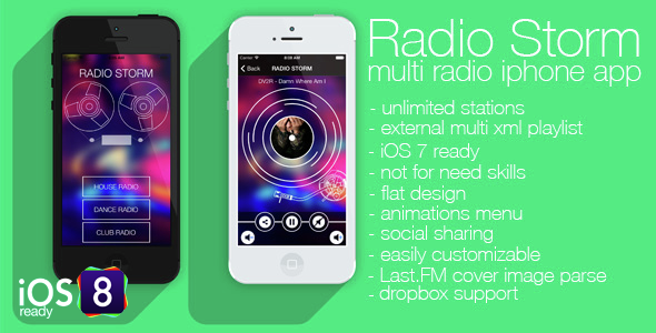 Radio Storm - multiradio app for iPhone - CodeCanyon Item for Sale