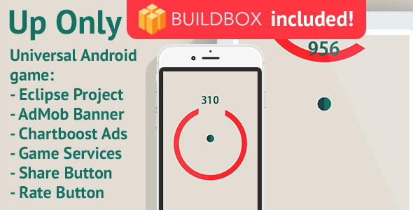 BuildBox Game. Up Only: Android, 3 PNG reskin, AdMob & Chartboost - CodeCanyon Item for Sale