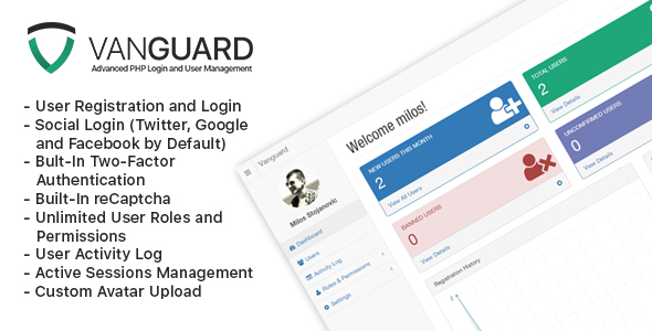 Vanguard – Advanced PHP Login and User Management (Miscellaneous) Download