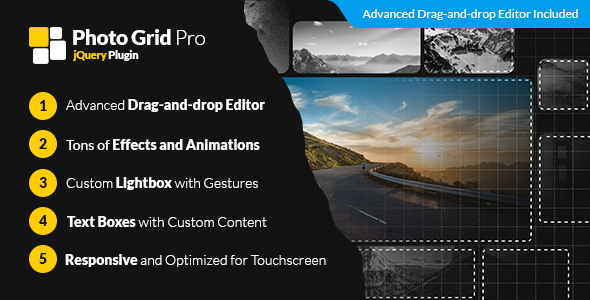 Photo Grid Pro – jQuery Interactive Grid Gallery Builder (Images and Media) Download