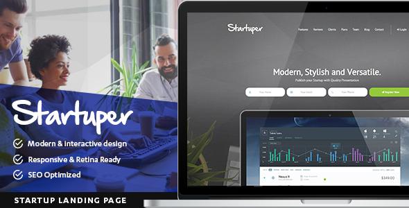 Startuper - Startup Landing Page