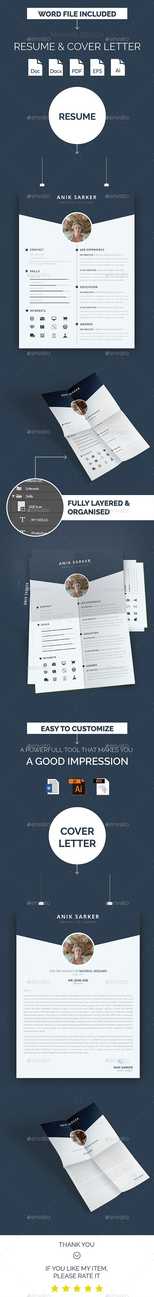 Minimal Design Resume & Cover Letter
