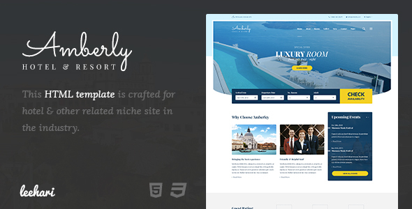 Amberley - Hotel Booking HTML Template